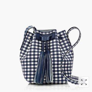 Mini bucket bag in gingham